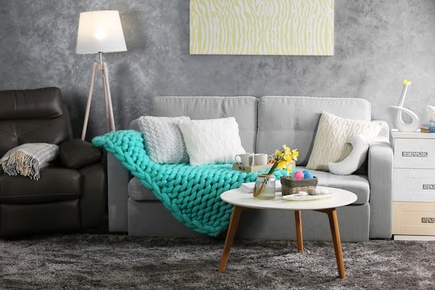 Design do interior da sala de estar