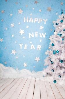 Design festivo de feliz ano novo. composição sobre o tema feriados de ano novo.