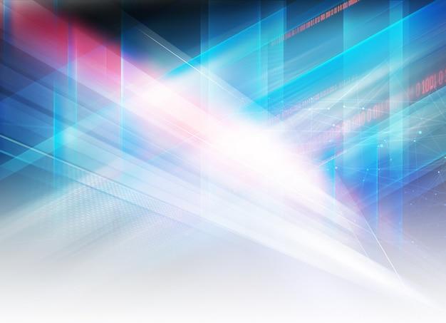 Design futurista de alta tecnologia gráfica abstrata