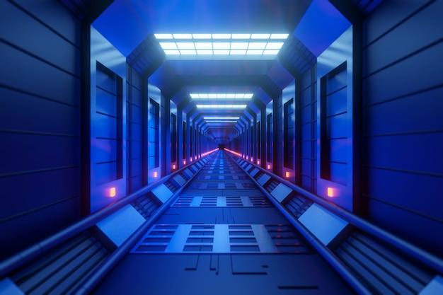 Design futurista de ficção científica