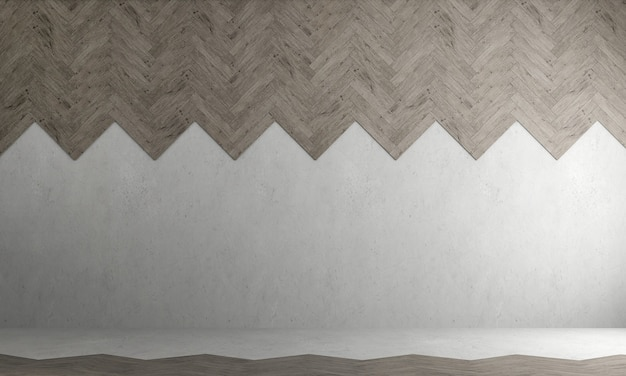 Design interior aconchegante, sala de estar vazia e parede de concreto vazia