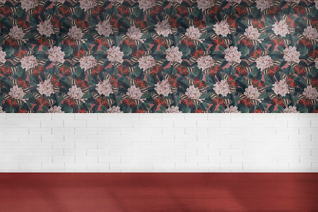 Design interior autêntico floral de sala vazia Foto gratuita