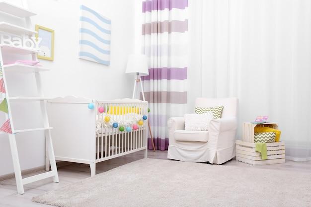 Design interior moderno do quarto do bebê