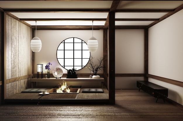 Design mais bonito sala de estilo japonês