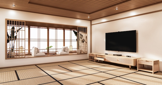 Design minimalista da sala de cinema