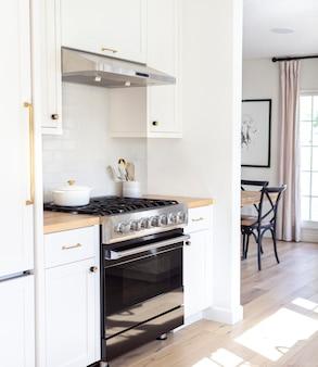 Design moderno de fogão de cozinha preto