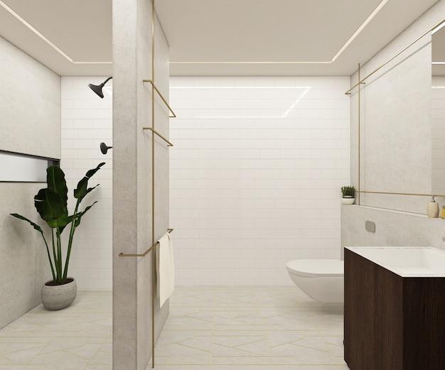Design moderno e luxuoso do banheiro