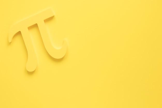 Design monocromático de símbolo real de pi