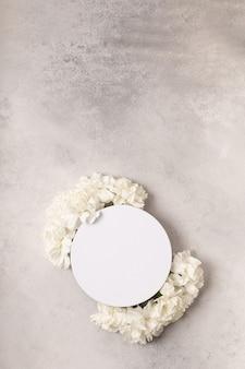 Design para texto em flores para o dia internacional da mulher