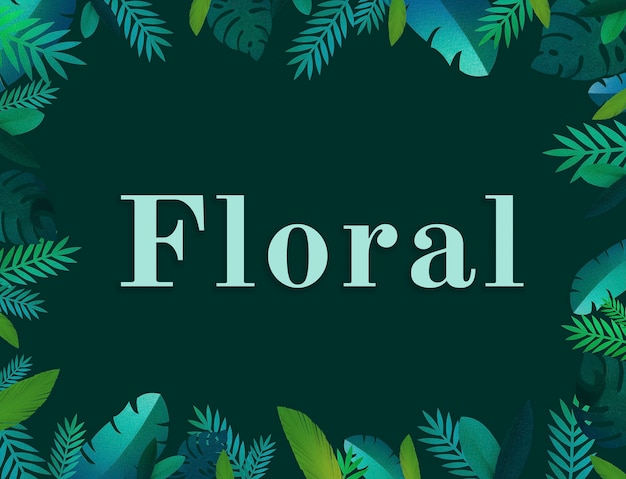 Design plano natural floral de flor