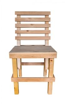 Design simples de cadeira de madeira artesanal