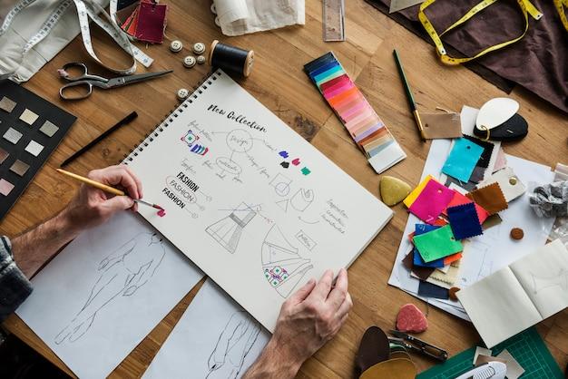 Designer de moda conceito de showroom elegante
