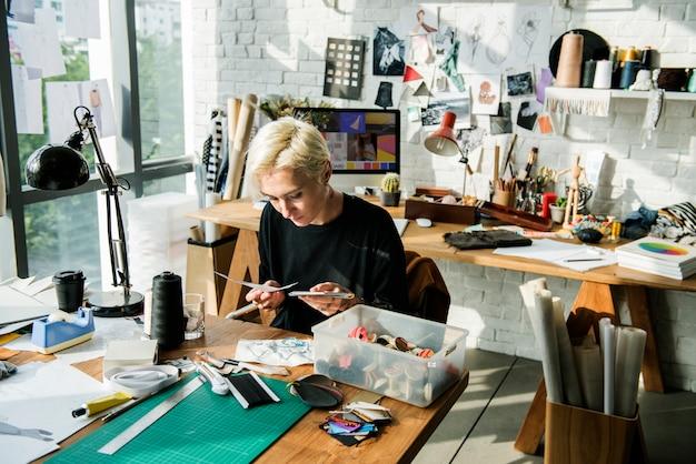 Designer de moda elegante showroom concept