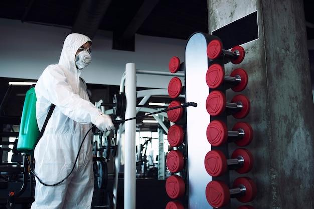 Desinfecção e saúde de ginásio
