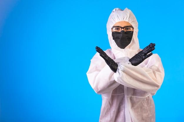 Desinfetante em uniforme preventivo especial faz recusa