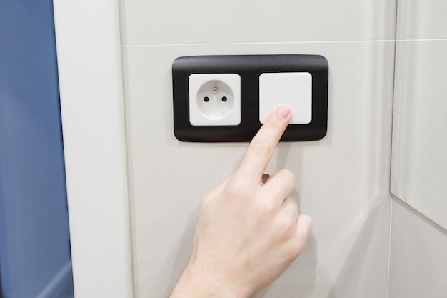 Desligue o interruptor de luz