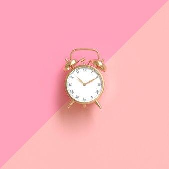 Despertador clássico de cor dourada