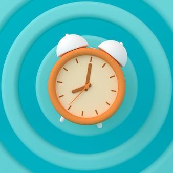 Despertador de estilo abstrato. ilustração 3d.