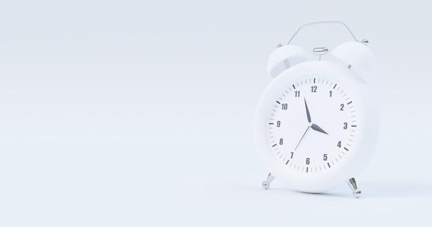 Despertador isolado no branco