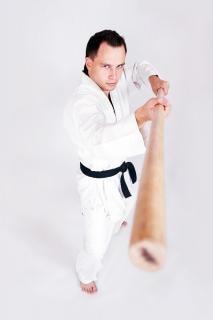 Desportista kungfu mestre