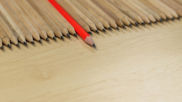 Destaque de lápis diferente