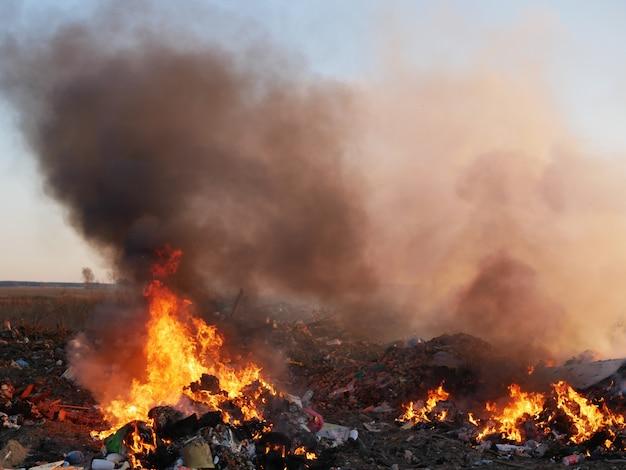Destruição de lixo
