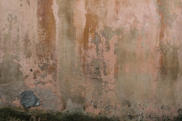 Destruído e parede suja