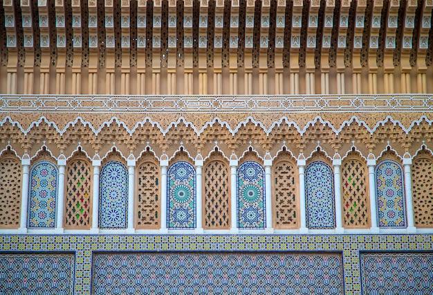 Detalhe arquitectónico de fes, marrocos