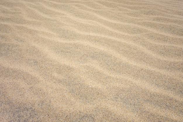 Detalhe da areia na praia de ponta preta em santa maria, ilha do sal, cabo verde