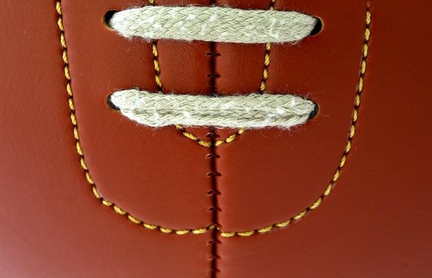 Detalhe da bola de futebol vintage