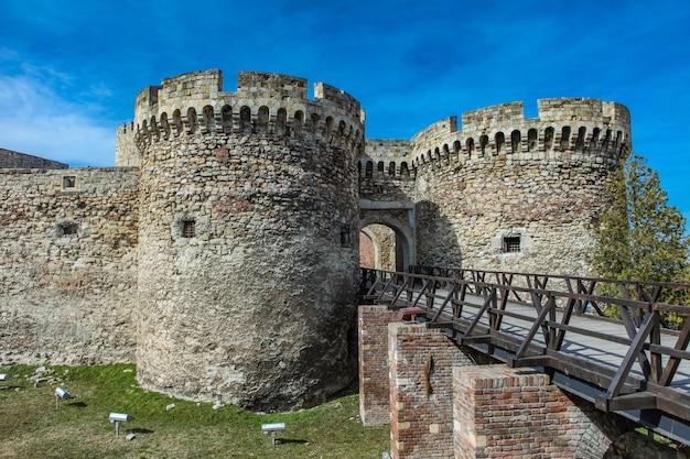 Detalhe da fortaleza de kalemegdan em belgrado, sérvia