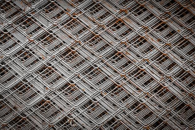 Detalhe da grade cromada para a construção. feche o padrão de um filtro de forno.