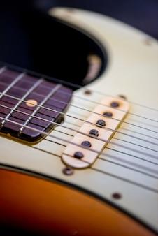 Detalhe da guitarra vintage