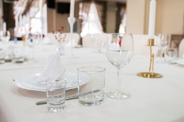 Detalhe da mesa servida