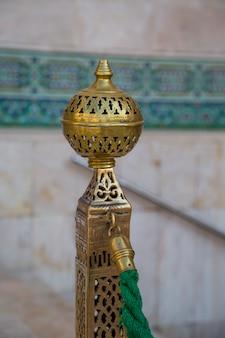Detalhe da mesquita hassan ii em casablanca