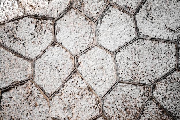 Detalhe da parede de pedras cinzentas