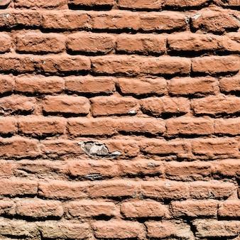 Detalhe da parede de tijolo marrom