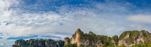 Detalhe da praia de railay na tailândia