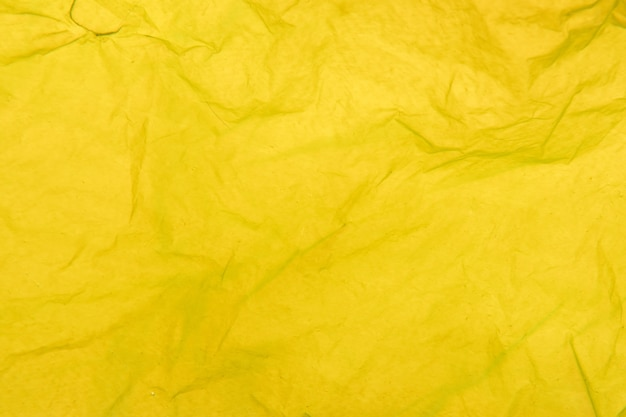 Detalhe da textura de um saco de plástico amarelo