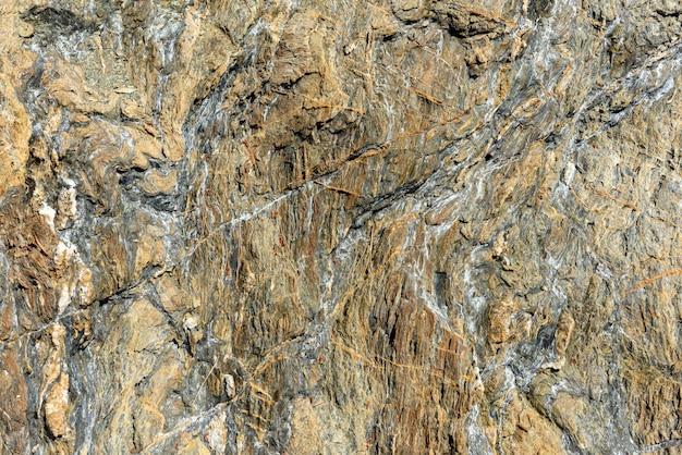 Detalhe da textura do padrão de rocha natural em close-up
