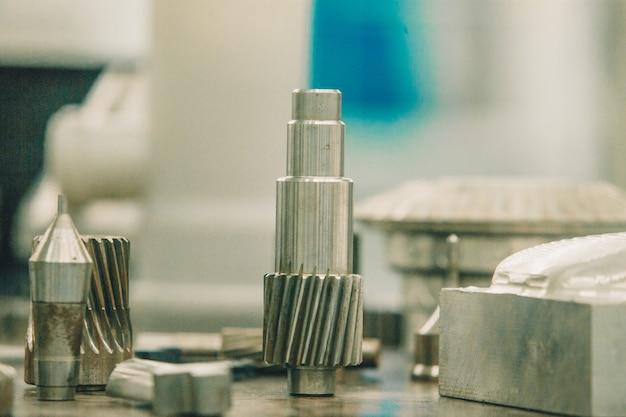 Detalhe de aço inoxidável para máquinas