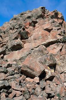 Detalhe, de, áspero, pedras, em, formação rocha