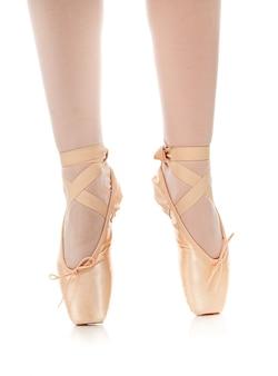 Detalhe, de, bailarino balé, pés
