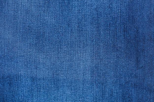 Detalhe, de, calças brim azul