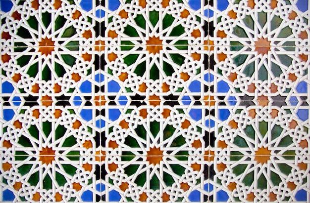 Detalhe, de, chão mosaico