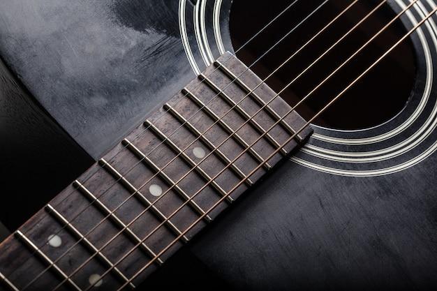 Detalhe, de, clássico, violão
