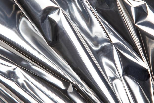 Detalhe de close up de textura metálica