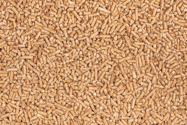 Detalhe de fundo de pellets de madeira natural