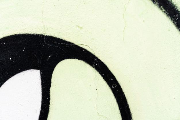 Detalhe de graffiti em uma parede. efeito de textura