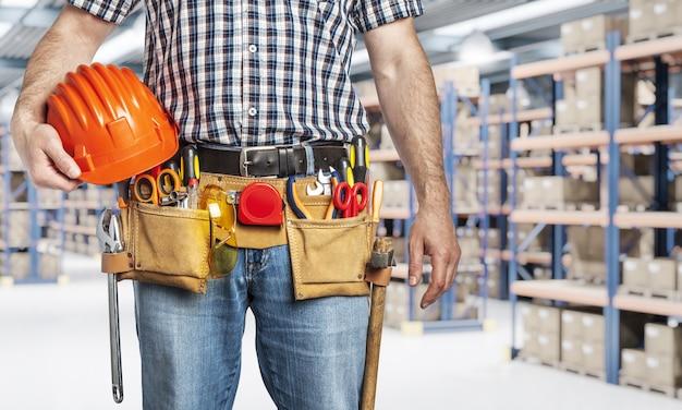 Detalhe, de, handyman